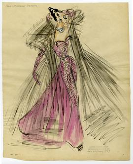 Original Sketch by Eric De Juan for Josephine Baker's Stage Costumes